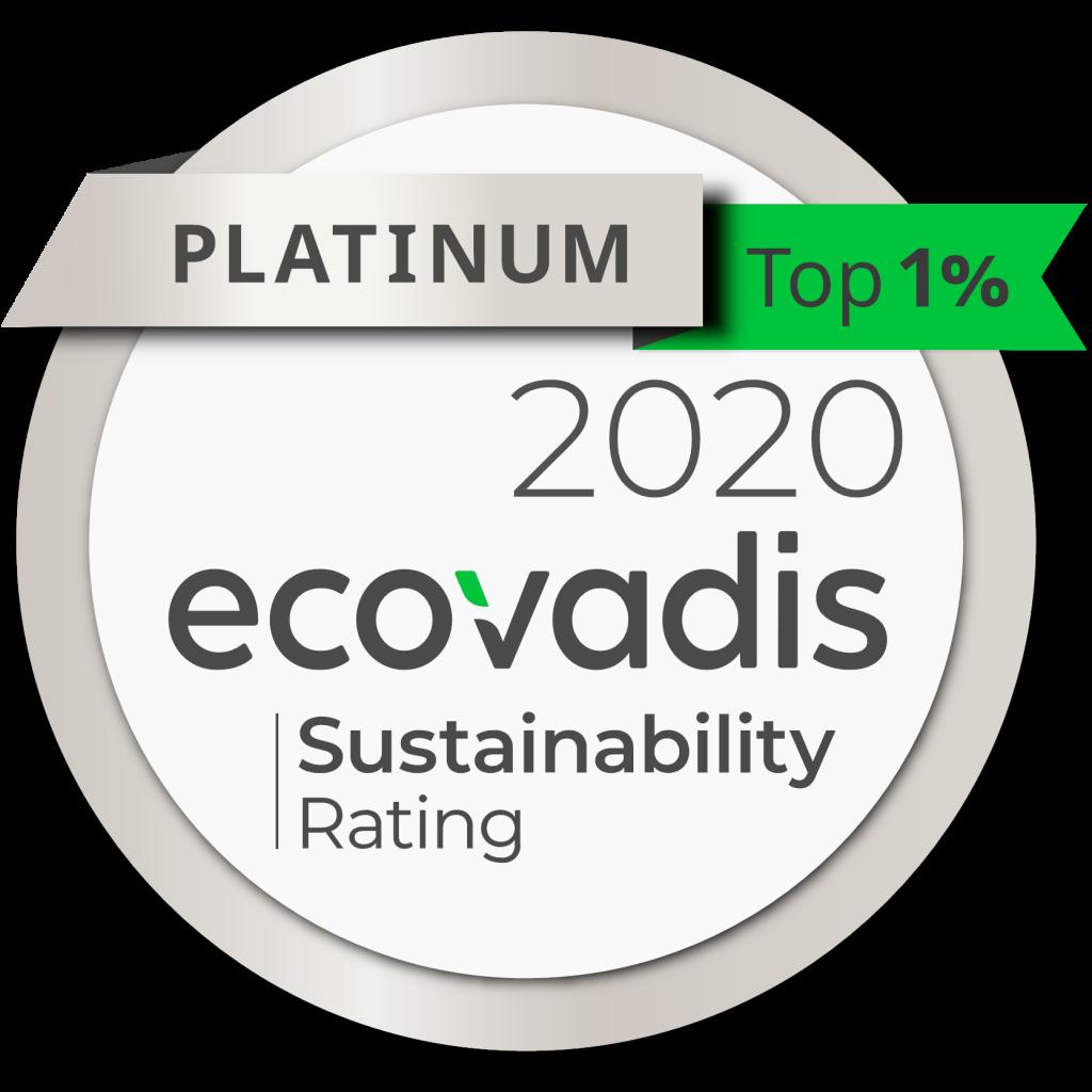 Visuel logo médaille Ecovadis - novembre 2020