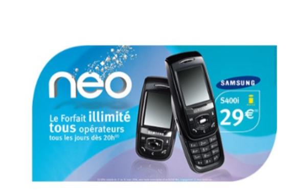 Neo, le Forfait illimité tous opérateurs tous les jours dès 23h