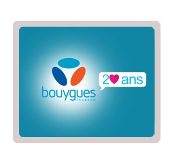 Visuel Bouygues Telecom fête ses 20 ans