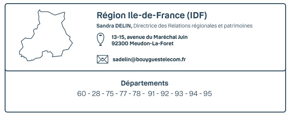 Visuel contact de la région Ile-de-France