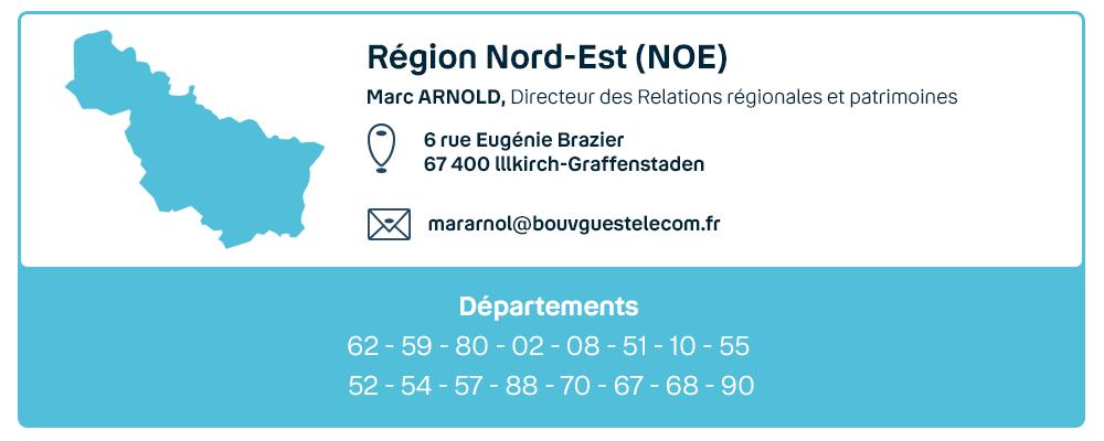 Contact de la région Nord-Est