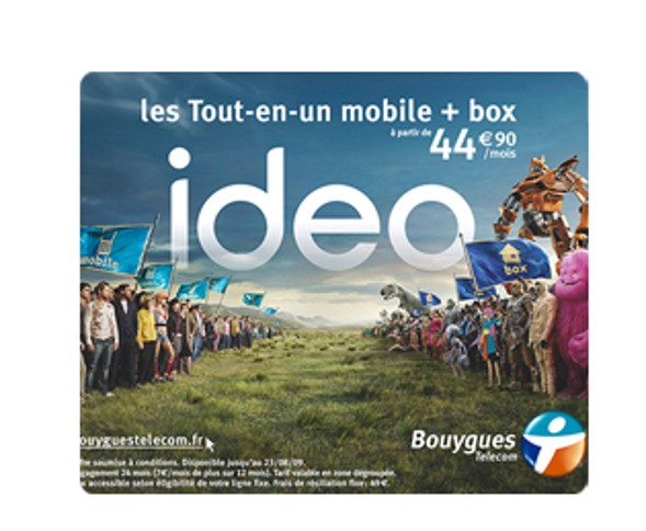 Ideo les tout en un mobile + box à partir de 44,90 euros par mois