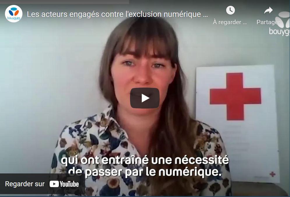 Visuel miniature vidéo Les acteurs engagés contre l'exclusion numérique : la Croix-Rouge française | Bouygues Telecom