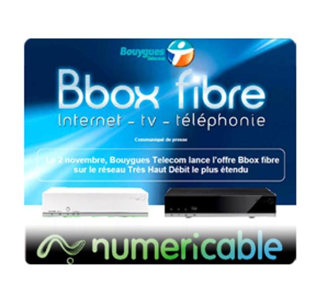 Bbox fibre : Internet - Tv-Téléphonie. Le 2 novembre, Bouygues Telecom lance l'offre Bbox fibre sur le réseau Très Haut Débit le plus étendu