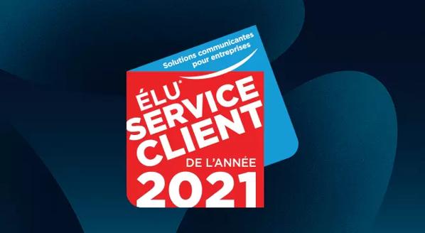 Visuel du prix Bouygues Telecom élu service de l'année 2020
