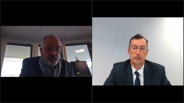 Visuel de l'intervention de Hervé de Tournadre lors des TRIP- Juin 2021