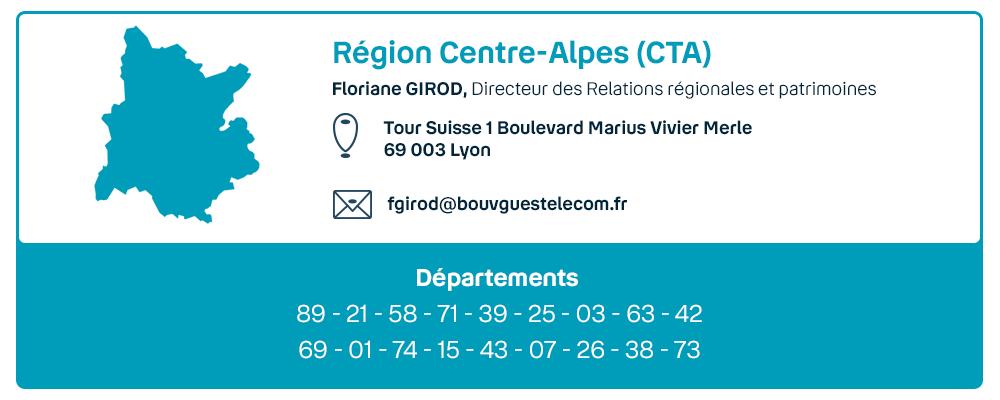 Contact de la région Centre-Alpes